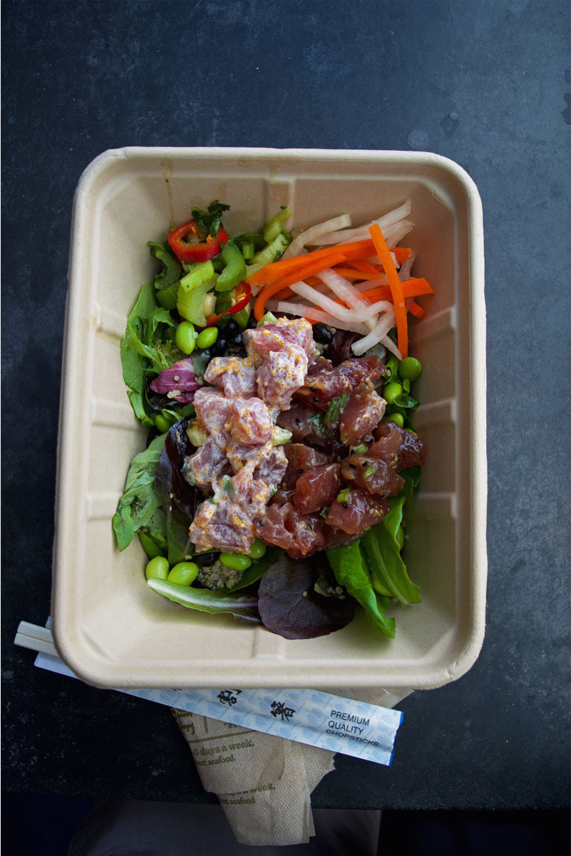Whole Foods poke, healthy restaurants Honolulu