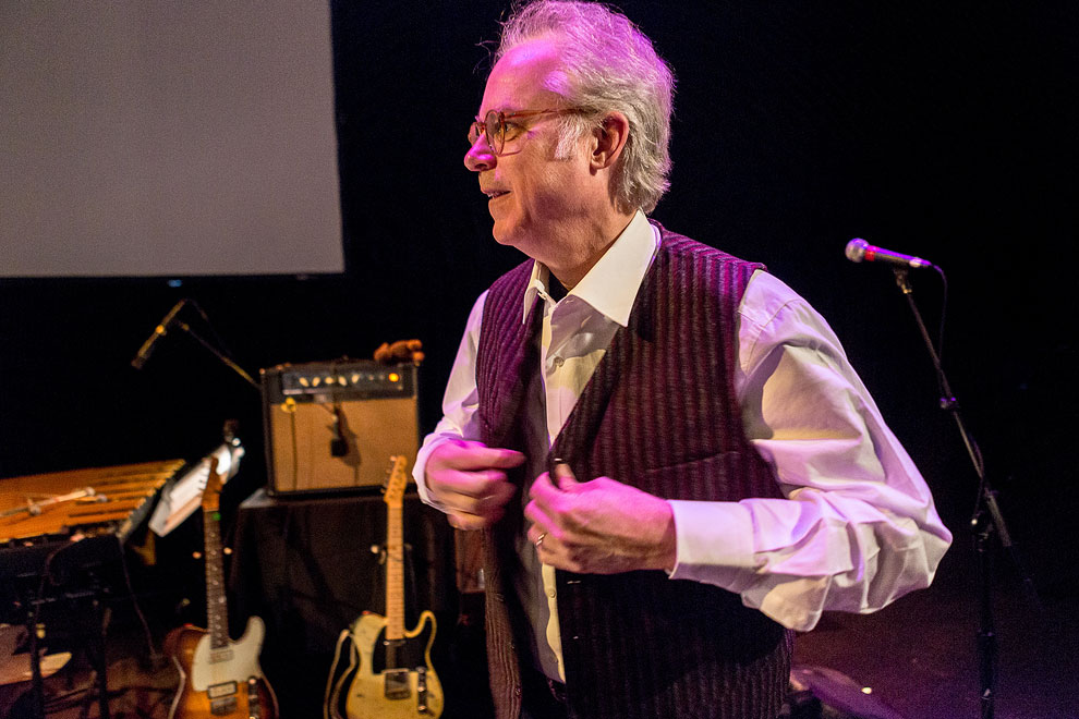 Seattle Photographer Daniel Sheehan shoots jazz musician  Bill Frisell performing in Seattle