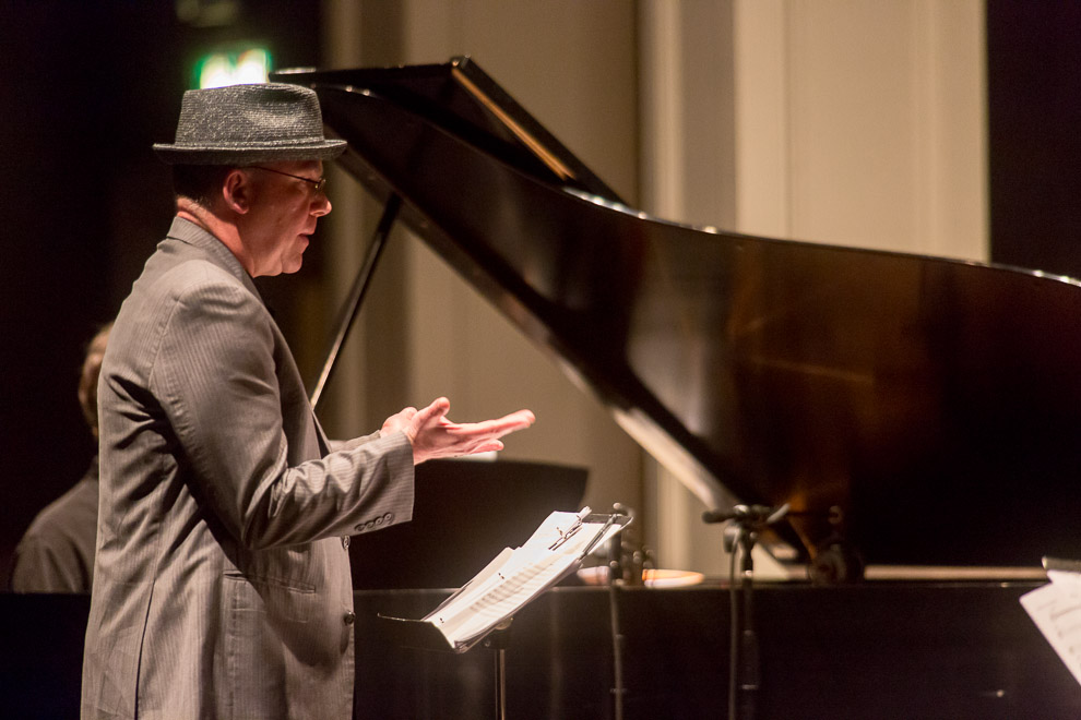 Jazz photographer Daniel Sheehan at the opening on the 2014 Earshot Jazz festival