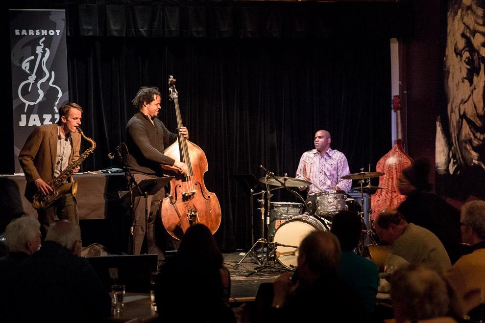 Jazz trio in Seattle by jazz photographer Daniel Sheehan