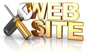 "A spanner and screwdriver next to the word ""website""written in gold to update your website with EyeSpy.biz"