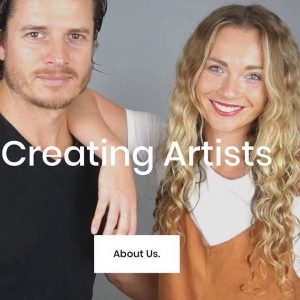 Headshots of Joel Pierce and Kylie Loveday from Creating Artists