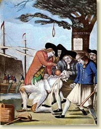 Colonists Tar And Feather A Tax Collector