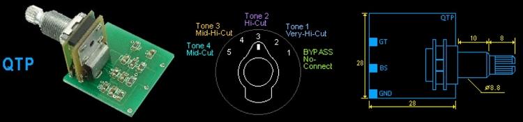 rotary switch wiring diagram guitar mercruiser trim pump artec qtp,quadra tone filter(passive) - 5way