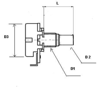B50K Roller potentiometer,pots,small Size,Linear Taper,50K