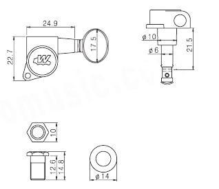 Wilkinson 6INLINE,Chrome,Classic oval