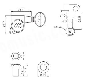 Wilkinson E-Z-LOK,6INLINE,Gold,Classic oval