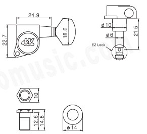 Wilkinson E-Z-LOK,6INLINE,Chrome,Contemporary flat sided