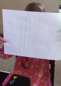 Lines Sewing Practice Sheets