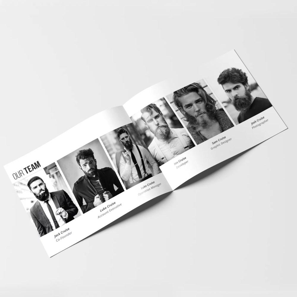 brochure designvector