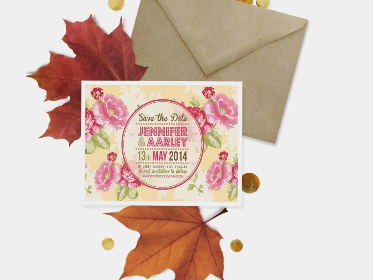 Autumn Season PostCard Mockup