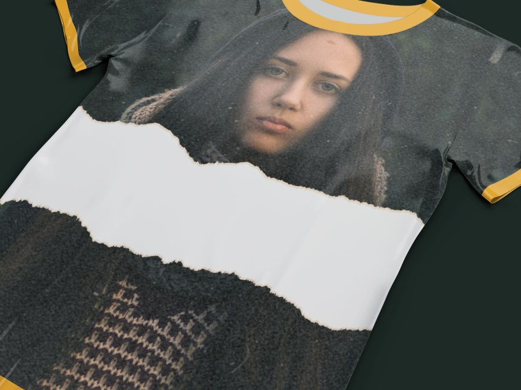Torn T Shirt Art Mockup