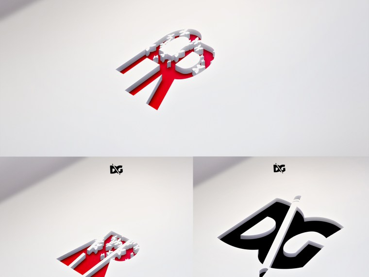 Amazing CutLine Effect Logo Mockups
