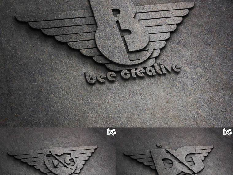 Concrete Surface Logo Mock-up