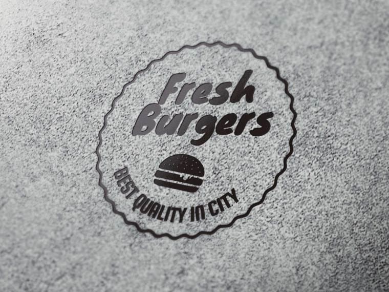 Burger Label Mockup 2018