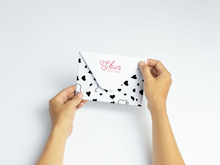 Beautiful Clean Invitation Envelope Label Mockups