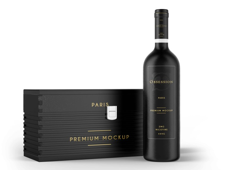 Luxurious Wine Bottle Label Packaging Mockup