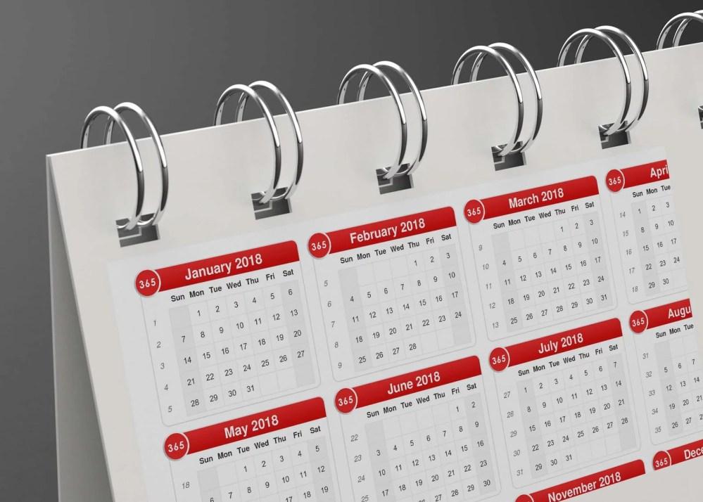 PSD Calendar Mockup