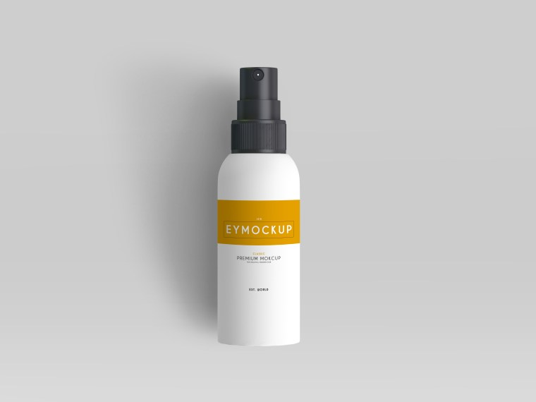 Mirror Cleaner Spray Label Mockup