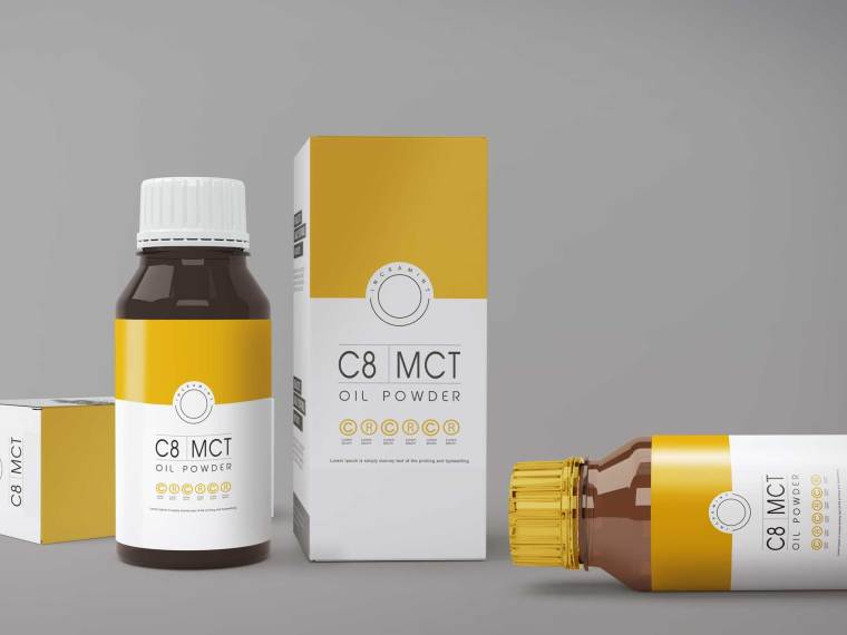 New CBD Oil Packaging Mockup 2018