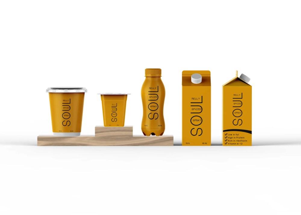 Yogurt Packaging Design Mockup