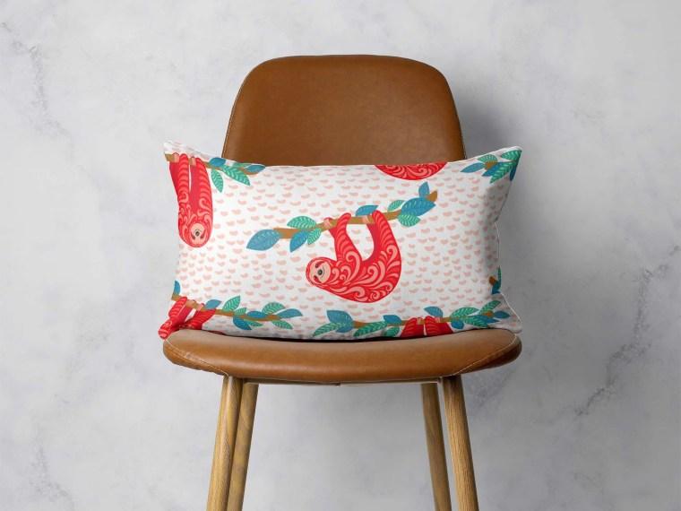 Small Rectangular Pillow Design Mockup
