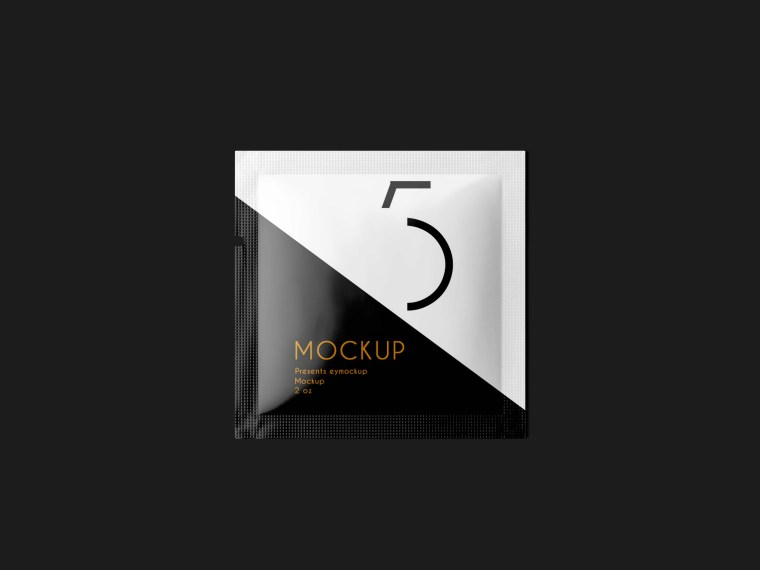 New Small Sachet Label Mockup