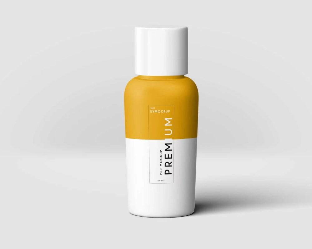Hair Oil Bottle Label Mockup