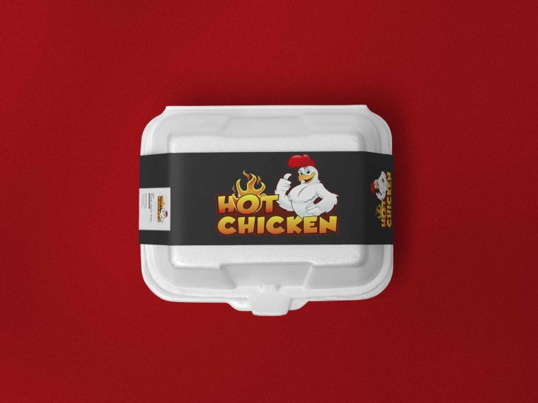 New Butter Chicken Packaging Box Label Mockup