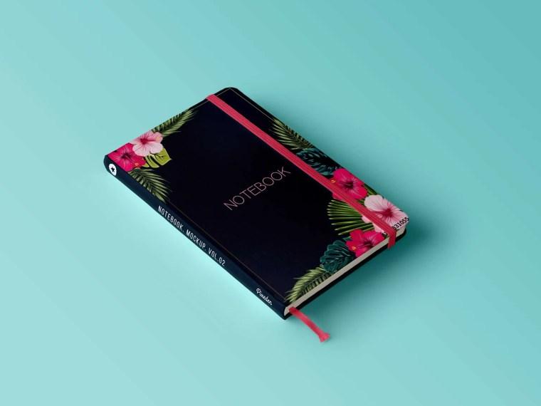 Premium Book Diary Presentation Mockup