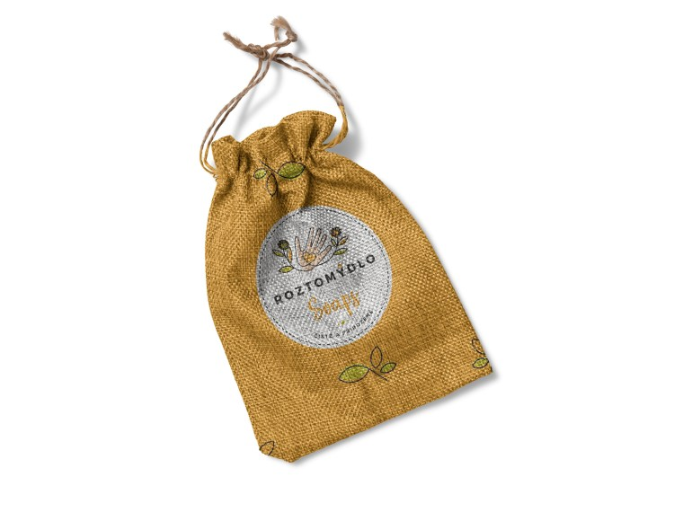 Jute Small Bag Design Mockup