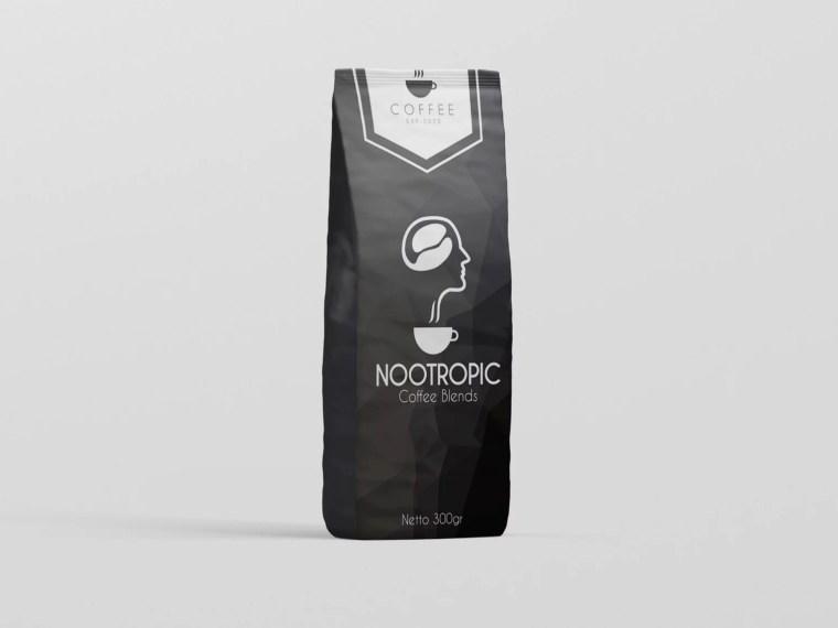 Modern Paper Bag Label Mockup