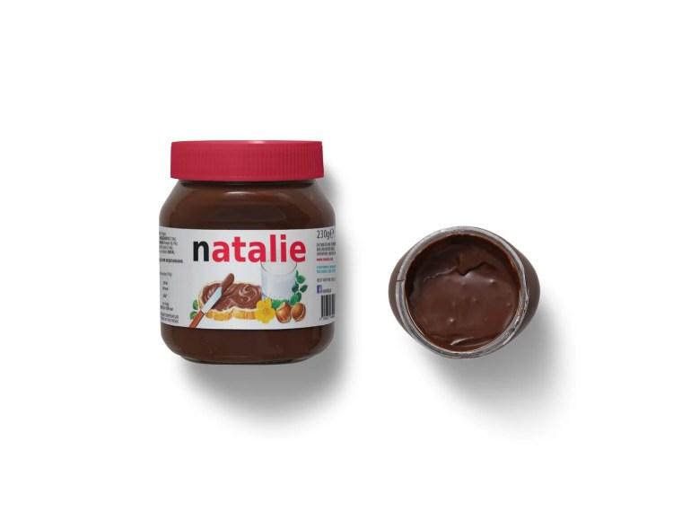 Natalie Melt Chocolate Packaging Label Mockup
