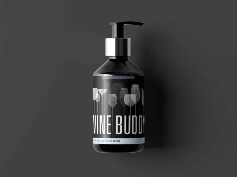 Prime Cosmetic Spray Bottle Label Mockup