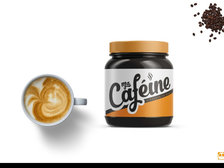 Dark Black Coffee Small Kitchen Label Mockup
