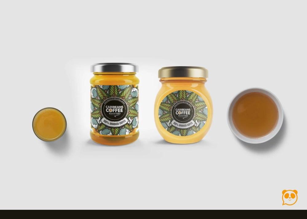 Honey Bottles Label Presentation Mockup