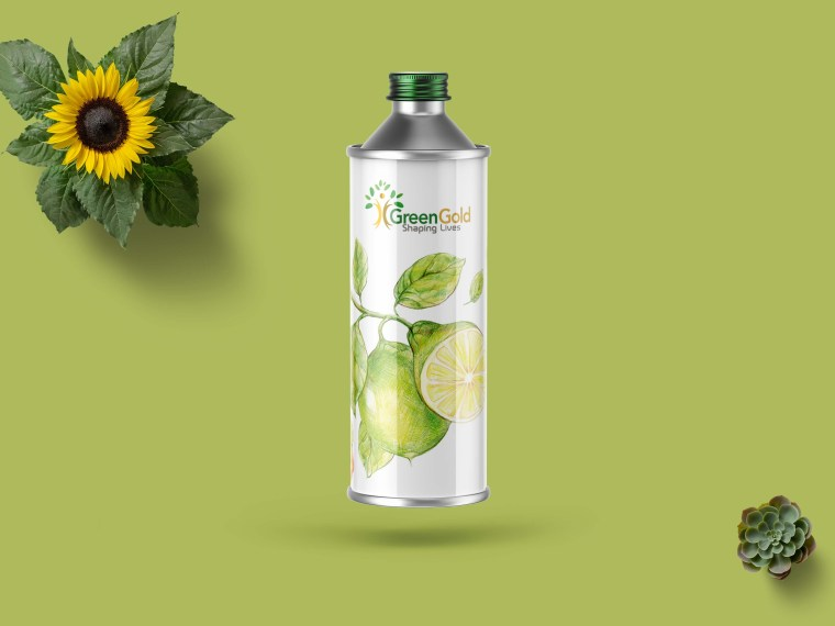 New Green Mosquitoes Oil Bottle Label Mockup
