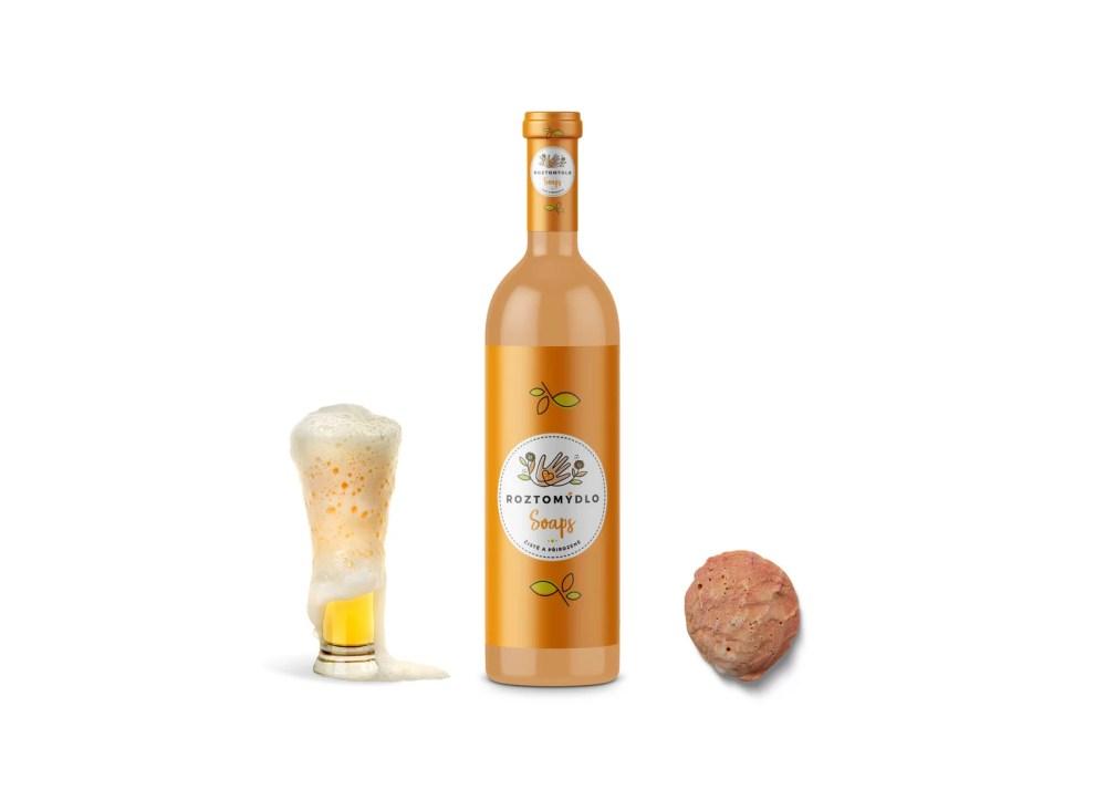 Orange Fruit Beer Bottle Label Mockup