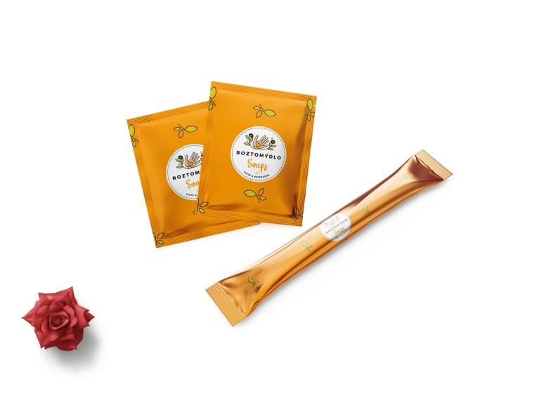 Spice Sachet & Thin Stick Coffee Pouch Mockup