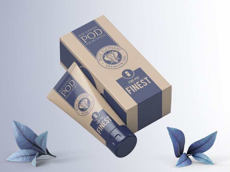 Body Cream Box PSD Mockup