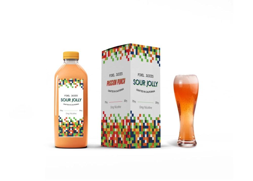 Complete Juice Packaging Mockup
