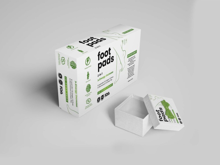 Foot Care Pads Packaging Mockup