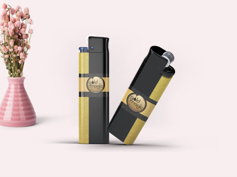 Gold luxury Lighter Mock up