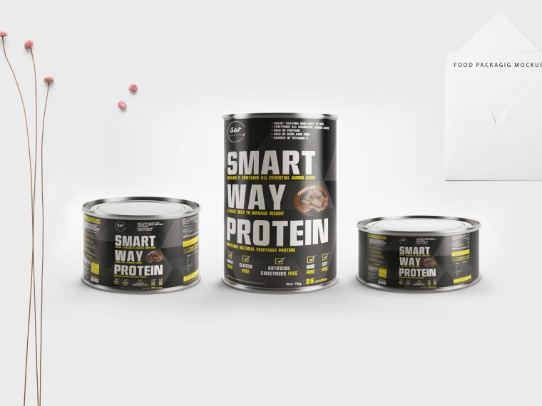 New Tin Can Food Packaging Mockup