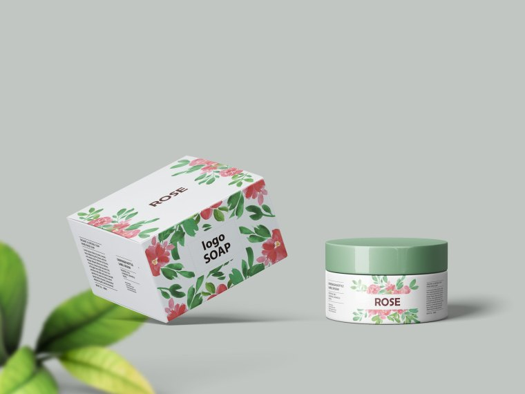 Skin Care Cream Box Mockup