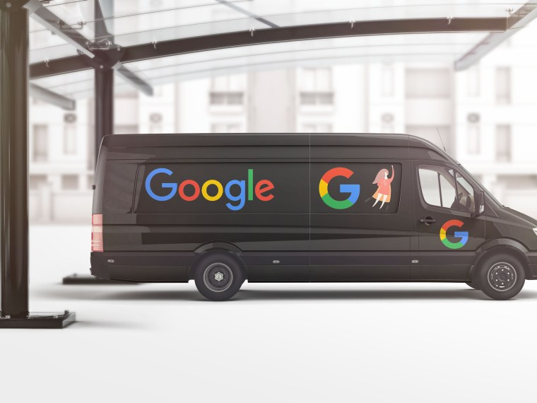 Premium Black Google Car Wrap Design Mockup