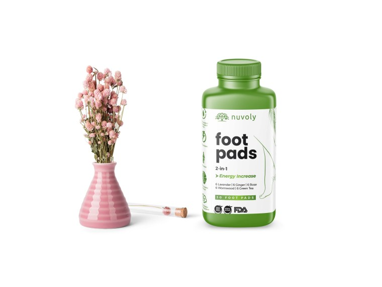 Foot Massage Cream Bottle Label Mockup