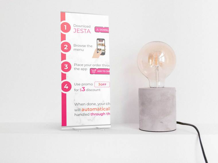 Prime Stand Roll-up Banner Mockup