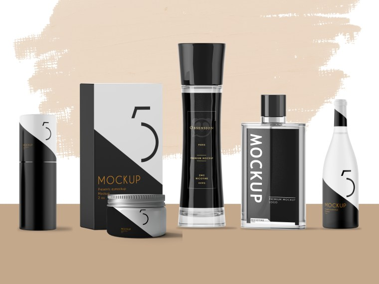 Premium Perfume Branding Mock-Up