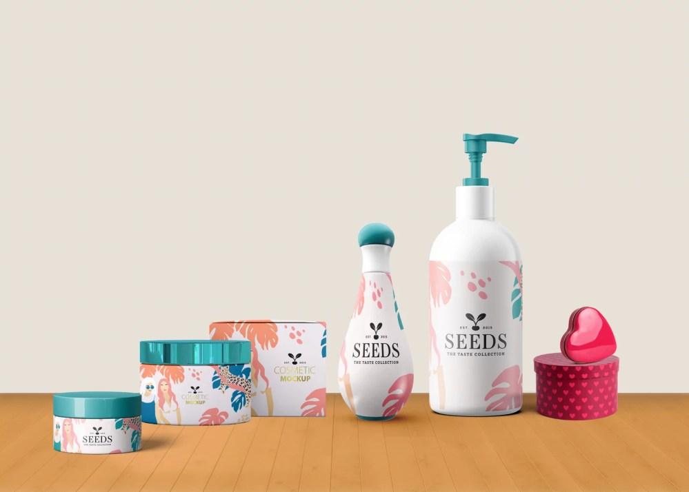 Oil Cosmetic Branding Mockup